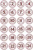 INDIGOS UG - Advent Calendar Numbers Stickers 1