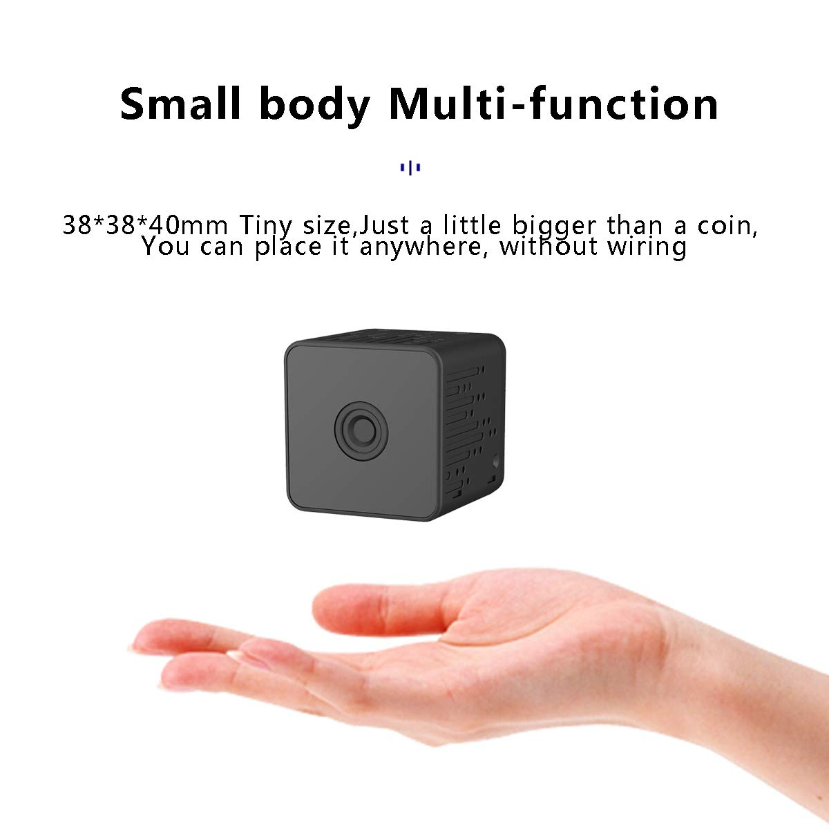 Mini Spy Camera - Halnziye HD 1080P Wireless WiFi Hidden Camera, Portable Small Nanny Camera Home Security Monitor with Night Vision/Motion Detection/Remote Viewing for Indoor, Car, Store, Office