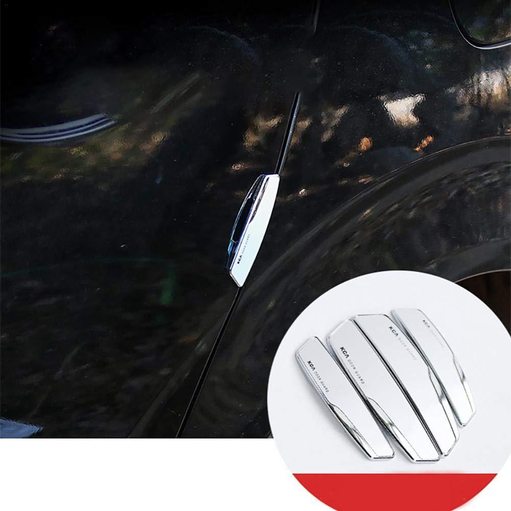 KFZ Auto T/ürschutz Anti-Scratch Selbst Klebende 4 ST/ÜCK im Set T/ürkantenschutz f/ür alle Autot/üre Door Guard Sch/ützen Sie Ihre Autot/ür vor Kratzern und Verschlei/ß (Schwarz//Silber)