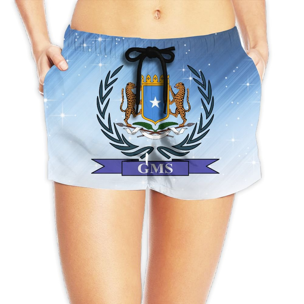 Coat of Arms of Galmudug Women Fashion Sexy Quick Dry Lightweight Hot Pants Waist Beach Shorts Swimming Trunks