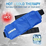 Arris Ice Packs for Waist Injuries Reusable Small Hot Cold Therapy Gel Ice Pack with Adjustable Strap for Pain Relief - Flexible & Soft for Foot Knee Shoulder Neck Elbow Ankle Head Back Wrist Arm