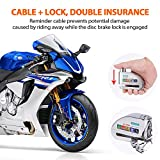JACOOL Motorcycle Alarm Disc Lock 110dbB Anti Theft