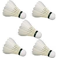 Sapna Sales Badminton Shuttlecock White Pack of 6 Feather Shuttlecock