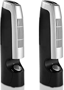 Goplus 2 PCS Mini Air Cleaner Air Ionizers for Home Office Odor Allergies Eliminator from Pets, Smoking, Cooking and Laundry, 2 Speed Operations