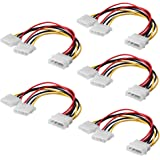 SIENOC Computer Molex 4 Pin Power Supply Y Splitter Cable - 2 Female to 1 Male (5 Pack)