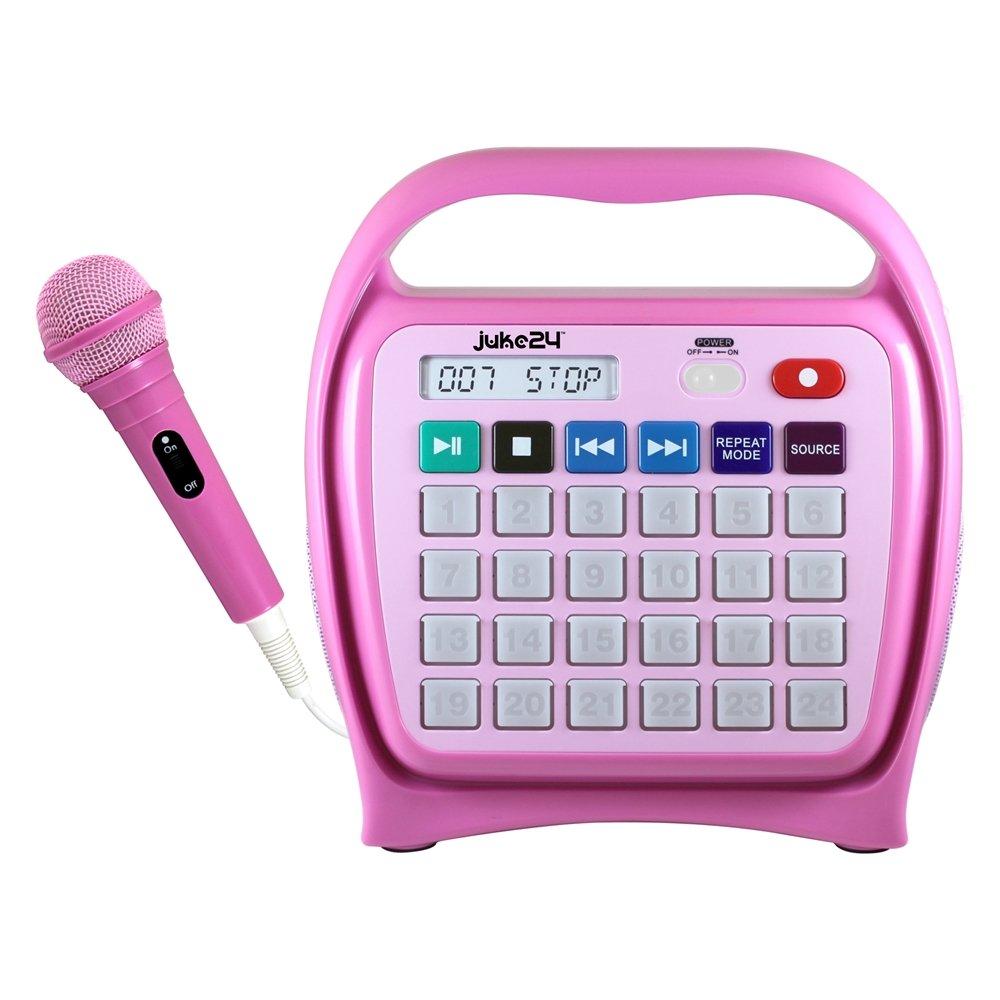Hamilton Buhl Juke24 - Portable, Digital Jukebox with CD Player and Karaoke Function - Pink