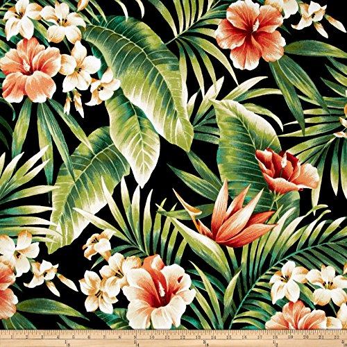 Richloom Fabrics Solarium Outdoor Cypress Fabric by The Yard, Midnight ()