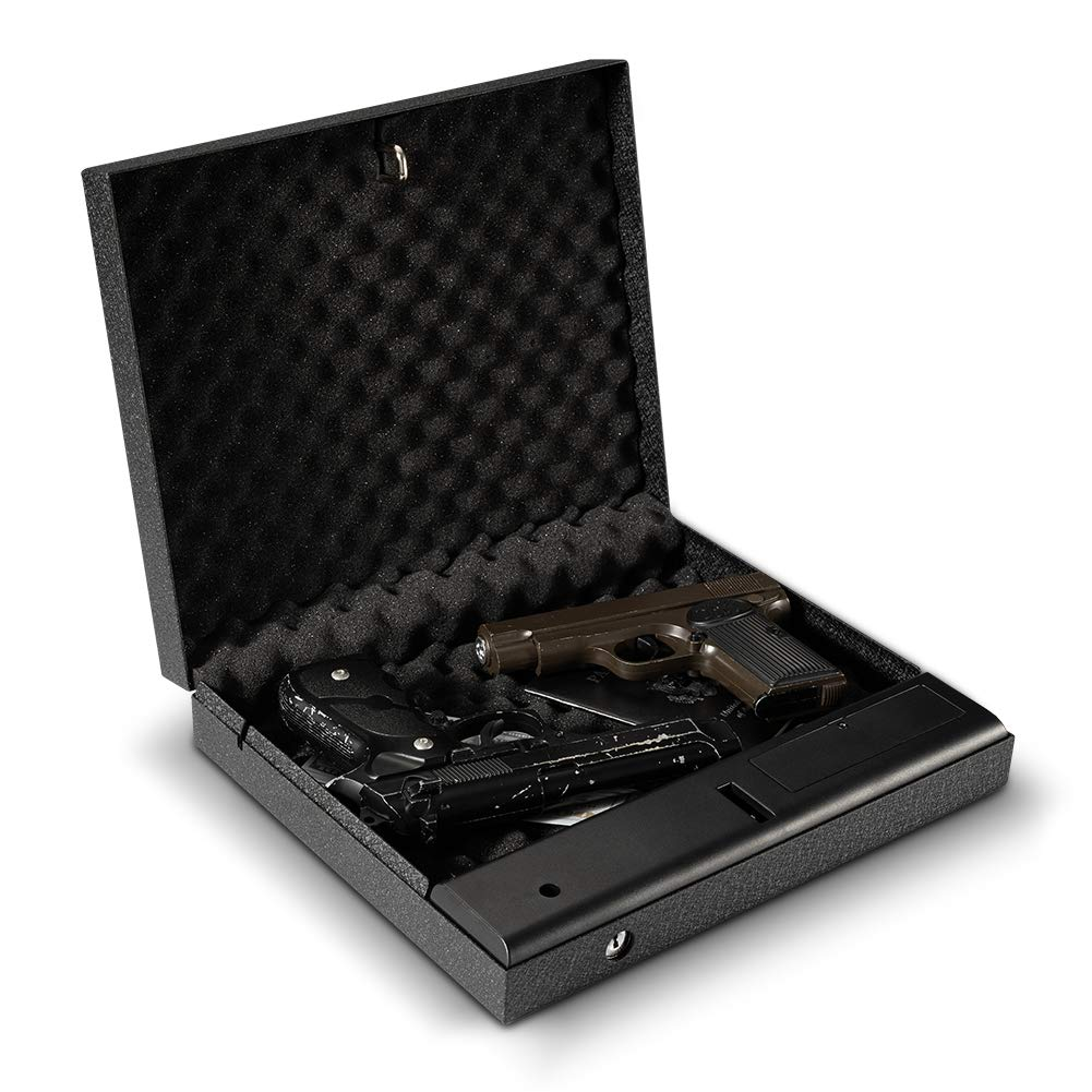 RPNB Portable Security Safe, Quick-Access Dual Firearm Safety Device with Quick Reliable Keypad Access by RPNB