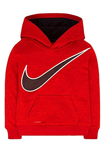 2c8a543d629d Amazon.com  Nike Boys KO 3.0 Therma-Fit Pullover Hoodie Crimson (7 ...