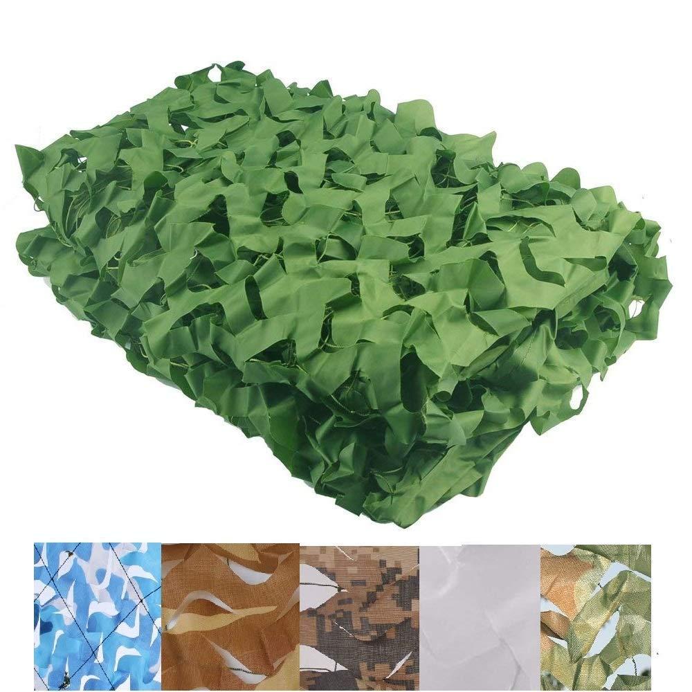 35M(9.816.4ft) Filet de Camouflage Filet Ombrage Filet d'ombrage Camouflage Auvents Sunscreen Sun Isolation de maille Filet Auvent Tente Tissu, Convient pour la chasse aux peaux militaire, couleur verte, plusieurs t