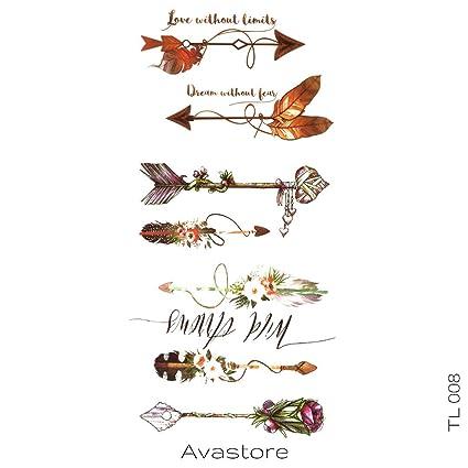 Tatuaje Temporal flechas avastore: Amazon.es: Belleza