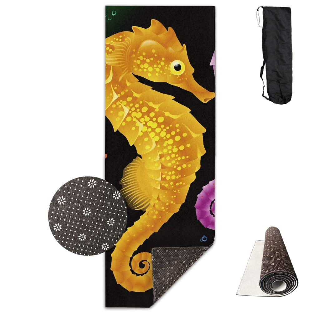 Cool Three Seahorse Deluxe,Yoga Mat Aerobic Exercise Pilates Anti-slip Gymnastics Mats