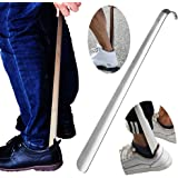 "Metal Shoe Horn,Extral Long handled Shoehorn,17"" Heavy Duty Stainless Steel Shoes Horn for Women,Men,Kids,Seniors,Elderly,Disabled,Pregnancy,Boots,Dress,Runing,Shoes,Sneakers …"