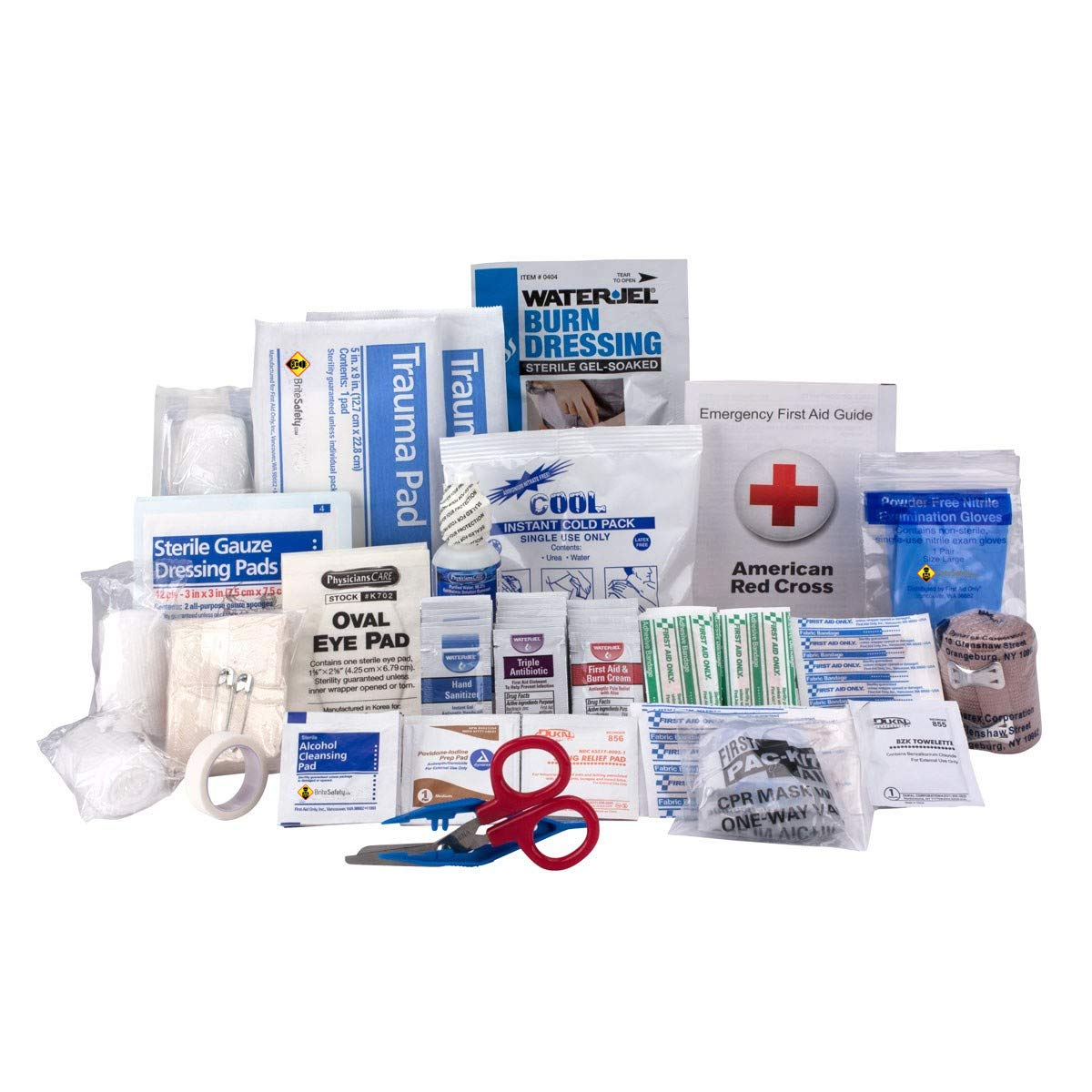 50 Person ANSI A+, First Aid Refill - OSHA Compliant 2018 Trauma Kit First Aid Kit Cabinet Refill Emergency Aid Kit