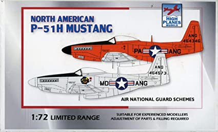 Amazon.com: High Planes Modelo 1:72 North American P-51H ...