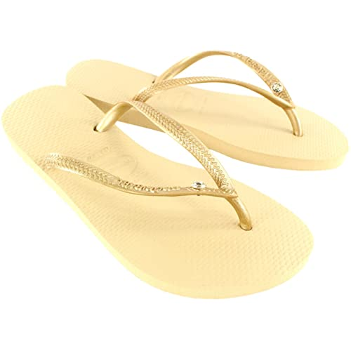 ca6420d58288 Womens Havaianas Slim Crystal Glamour Sw Flip Flop Summer Sandal  Amazon.co. uk  Shoes   Bags