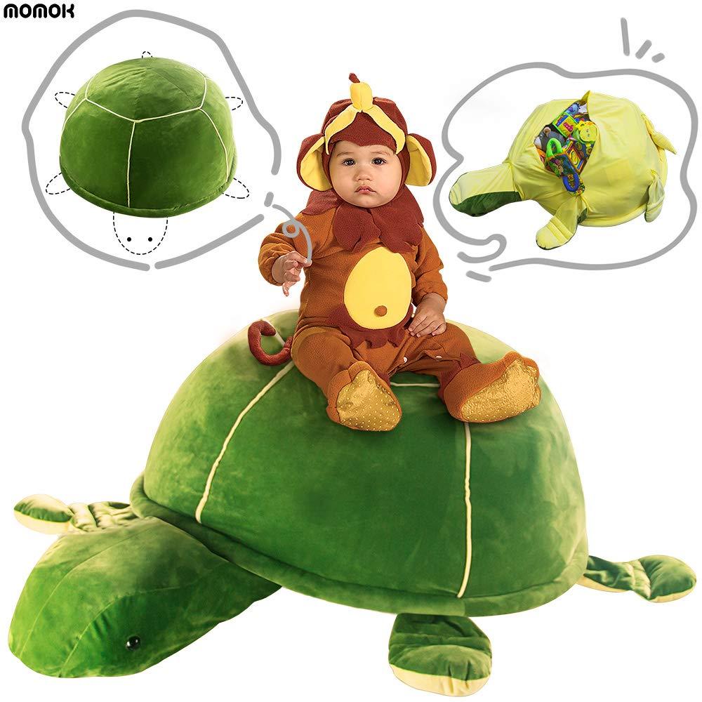 Turtle Stuffed Animal Toy Storage, Large Size Storage Bean Bag Velvet Extra Soft Stuffed Kid Toys Storage Organize Room Magic Sofa Chair by momok