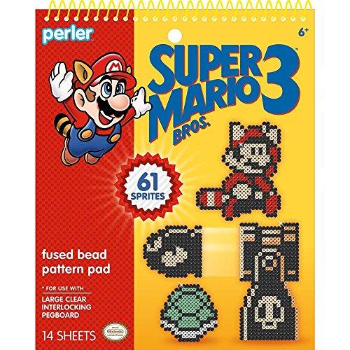 Super Mario Perler Bead Pattern Pad, 14pg.