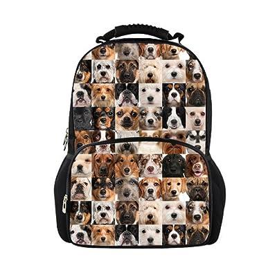 Showudesigns Cute Printing Animal Backpack for High School Kids Teen Boys Zoo Bagpack
