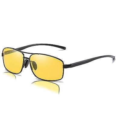 c2d316a8f6 Mens Womens Classic Retro Polarized Sunglasses Metal Frame Night Driving Rectangular  Sun Glasses for Men Women