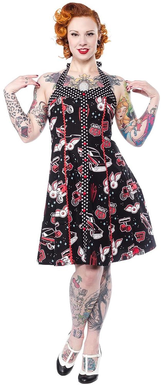 Vintage Retro Halloween Themed Clothing Sourpuss Kustom Kutie Peggy Dress $58.95 AT vintagedancer.com
