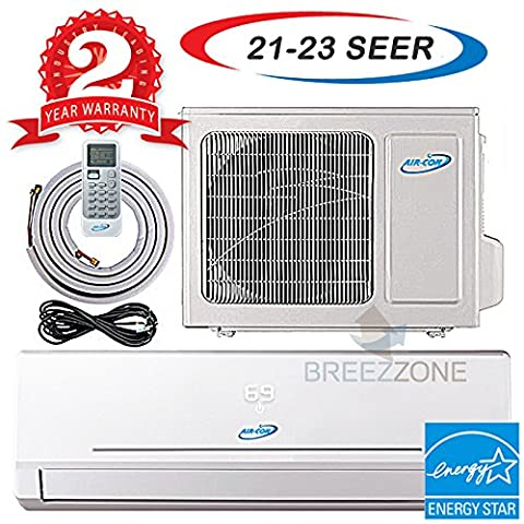 12000 Btu 20.5 SEER Ductless Mini Split DC Inverter Air Conditioner Heat Pump System 208-230 Volt with 15ft Line Set (12000 Btu)