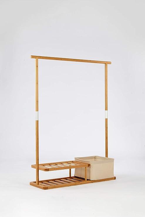 cenzen - Perchero de pie de bambú (111 x 35 x 144 cm ...
