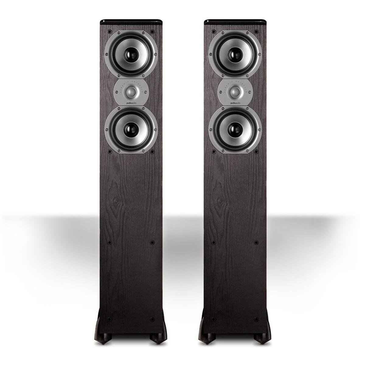 Polk Audio TSi300 3-Way Tower Speaker with Two 5-1/4'' Drivers - Pair (Black)