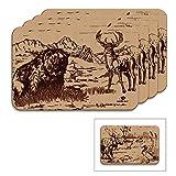 Mossy Oak Animal Print Reversible Placemat (Reversible Placemats, Set of 4)