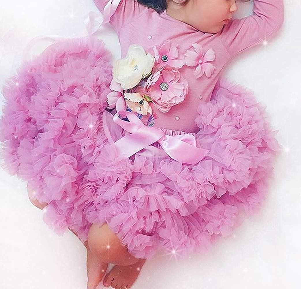 Douhoow Infant Baby Girls Tutu Skirt Dress Princess Party Pettiskirt Dance Dress