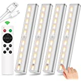 SZOKLED Wireless Under Cabinet Lighting Remote Control Rechargeable LED Closet Light Dimmable Under Counter Light…
