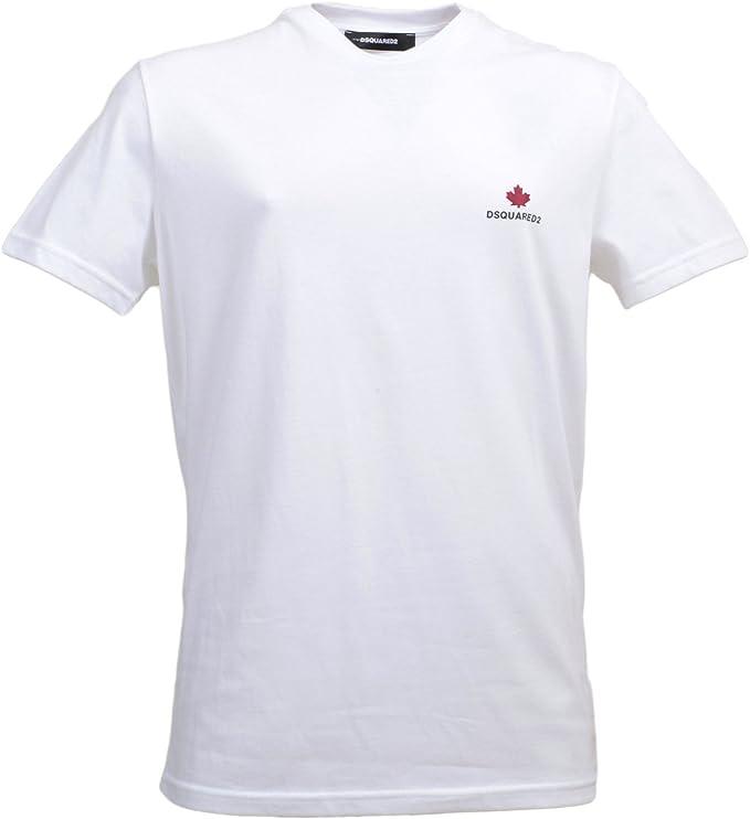 DSquared - Camiseta - para Hombre Blanco Blanco Small: Amazon.es: Ropa y accesorios
