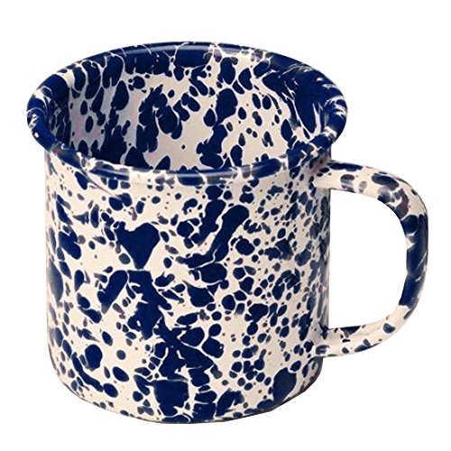 Enamelware Mug, 12 ounce, Navy/Cream ()