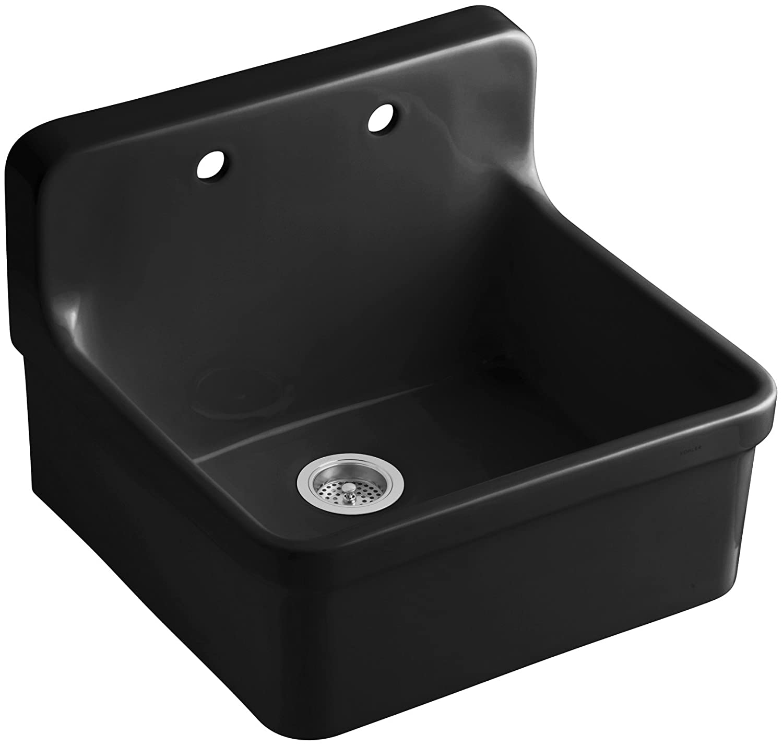 kohler k 0 gilford apron front wall mount kitchen sink