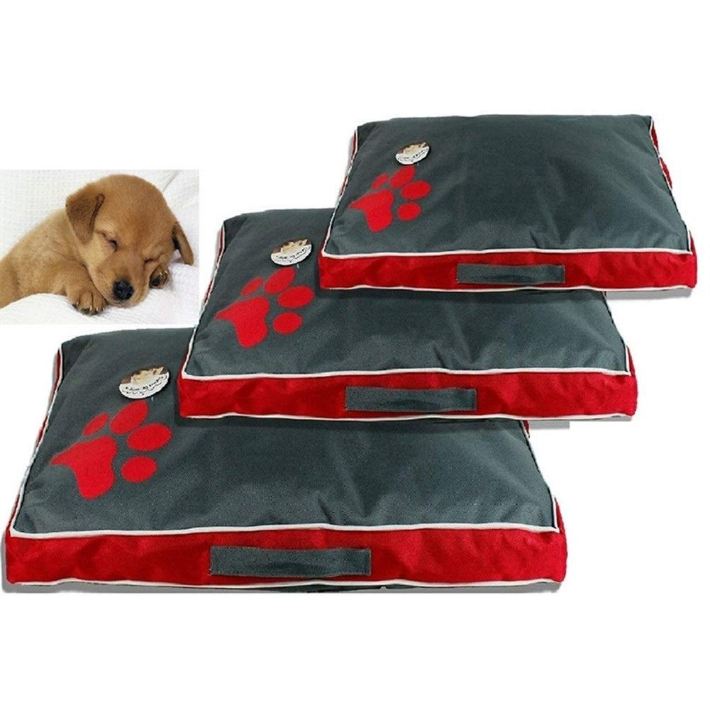 Zampa Impermeabile Pet Mat Dog Bed Estate Addensare Raffreddamento Cuccia for Cani Cucciolo Dormire Cuscino Sfoderabile for Piccolo Cane Medio Grande Color : Black, Size : 105X65X8CM