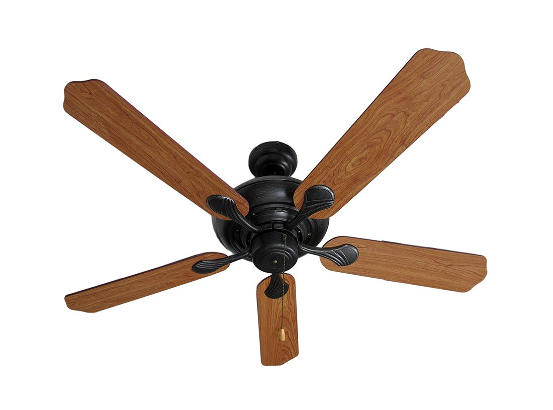 Wood & Metal Ceiling Fans Aire Ryder Silver Medallion 52 Inch Ceiling Fan Oil Shale Finish 52 X 52 X 10 Inches Silver