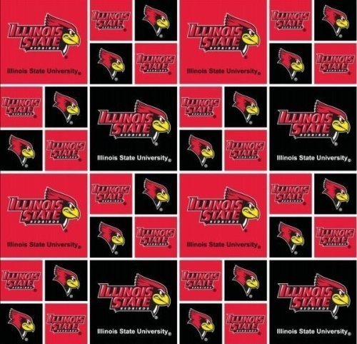 Cotton Illinois State University Redbirds College Cotton Fabric Print by the ...