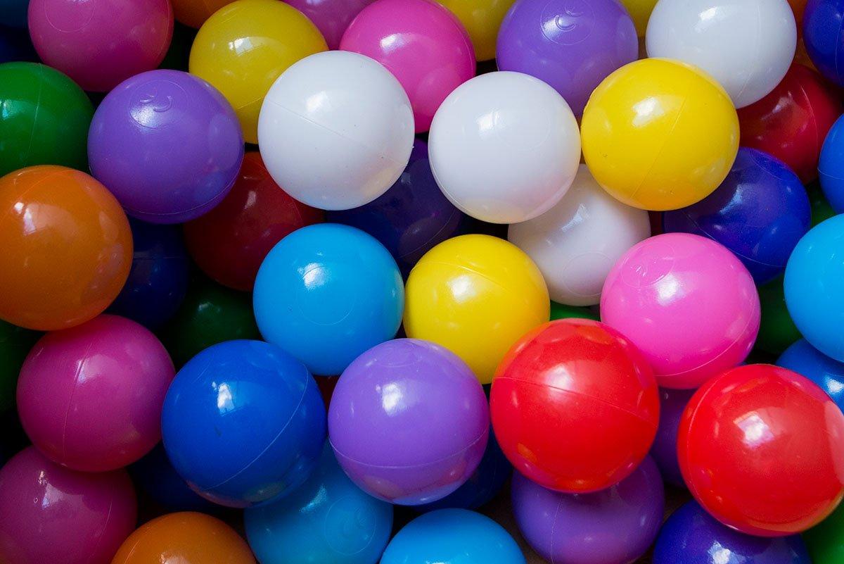 aussergewoehnlich® bunte Bällebad Bälle 5,5cm Durchmesser in 10 Farben (1000)