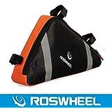 ROSWHEEL ロスホイール自転車 サイクリング用 フレームバッグ トライアングルバッグ 全2色