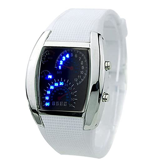 060a5907a Image Unavailable. Image not available for. Color: Fashion Mens RPM Turbo  Blue Flash LED Watch Gift Sports ...