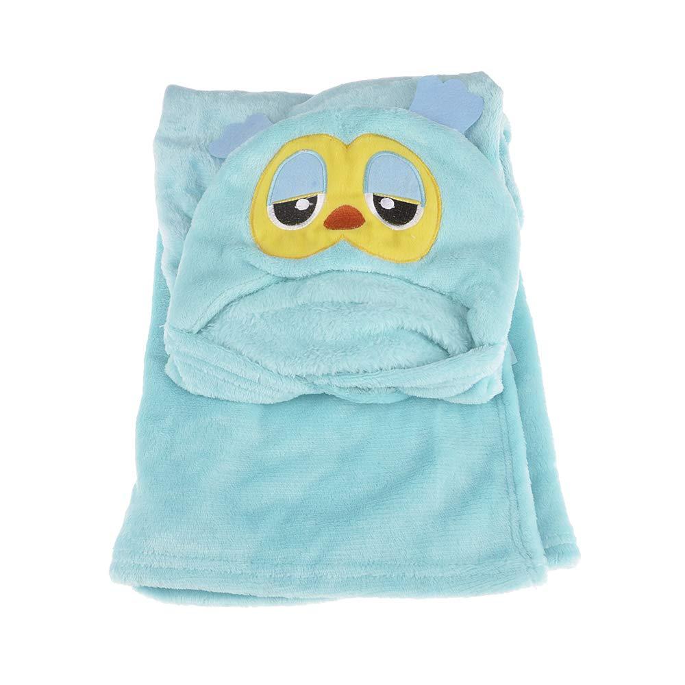 VVVVANKER Dessin animé animal Design bébé doudou housse peignoir confortable Cape Hibou
