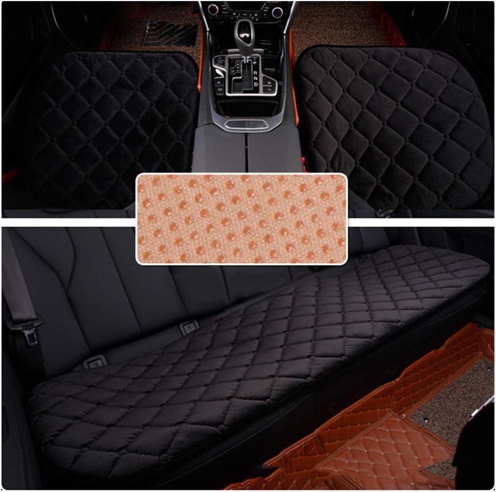Guocu Sitzkissen Universal Sitzauflagen Autositzbezüge Bambuskohle Pu Leder Sitzauflage Schwarz 2 Vordersitz Rücksitz Auto