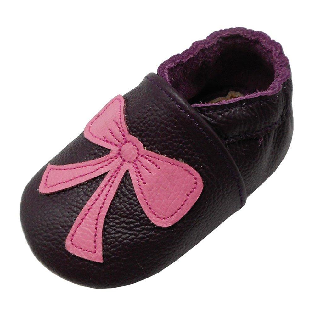 Yalion Baby Weiches Leder Lauflernschuhe Krabbelschuhe Hausschuhe Lederpuschen Multi-Stil