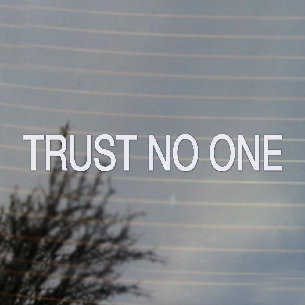 Cosplay & Fan Gear Trust No One Science Fiction Vinyl Decal (White)