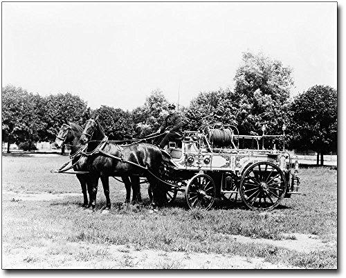 Antique Horse Drawn Fire Engine York, PA 30x40 Silver Halide Photo Print