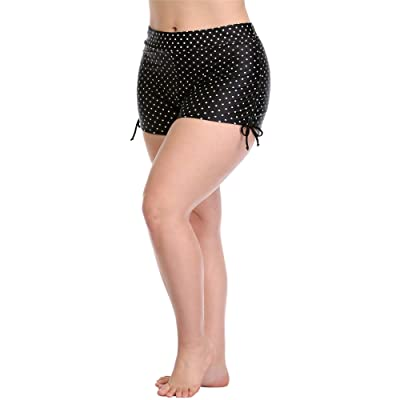 ALove Women Plus Size Swim Shorts High Waist Board Shorts Stretchy Swimsuit Bottoms at Women's Clothing store