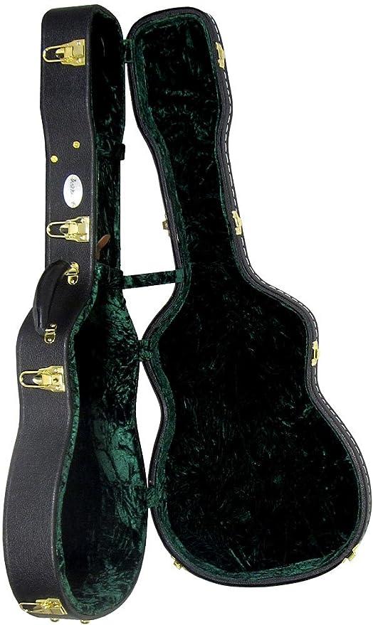 Ashbury AGC-30P - Estuche para guitarra Parlor, color negro