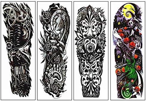 Noblik 4 Piezas/Lote Impermeable Pegatina De Tatuajes Temporales ...
