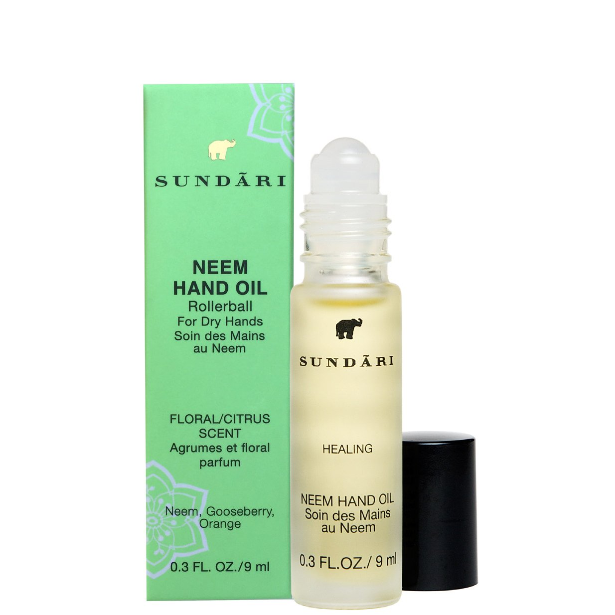SUNDARI Neem Hand Oil ~ For Soft/Silky Hands ~ To-Go Rollerball ~ Absorbs quickly ~ Feel the difference in the first use!