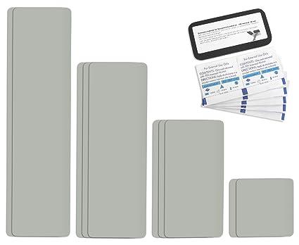 Parche para reparar toldos de semirremolques | disponible en multitud de colores | Easy Patch Comfort 100 mm de ancho - 10 piezas - | Gris Claro/ágata ...
